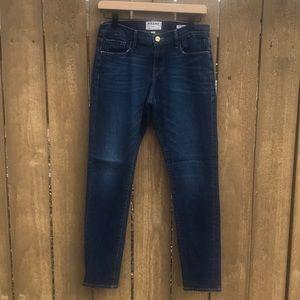 FRAME Le Garcon Boyfriend Jeans in Belgrave
